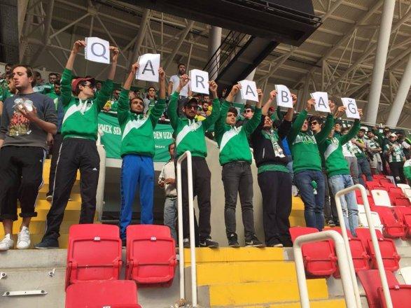 Турецкие фанаты поддержали «Карабах» После скандальной статьи; фото
