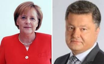 Poroshenko, Merkel agree to maintain contacts including in Normandy format