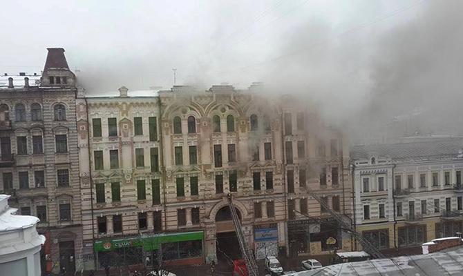 После пожара Минкульт просит Кличко выкупить старинный дом возле ЦУМа