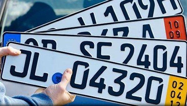 Литва отреагировала на расследование в отношении авто на еврономерах