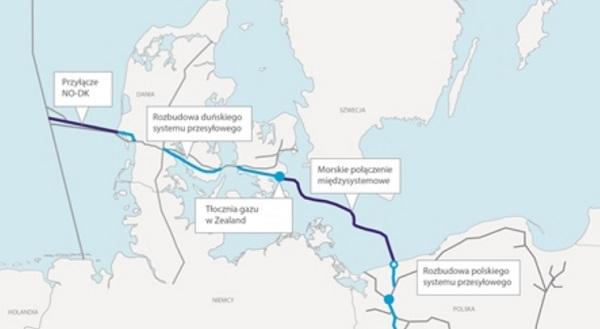Вибрано маршрут трубопроводу Baltic Pipe