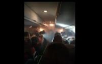 Самолет с фанатами сборной Перу загорелся над Россией (видео)