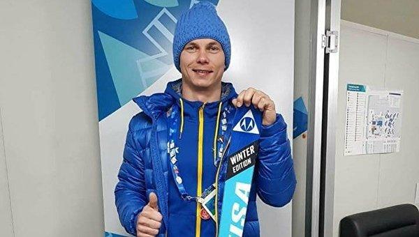 Олимпийский чемпион Абраменко подарил лыжу музею в Лозанне