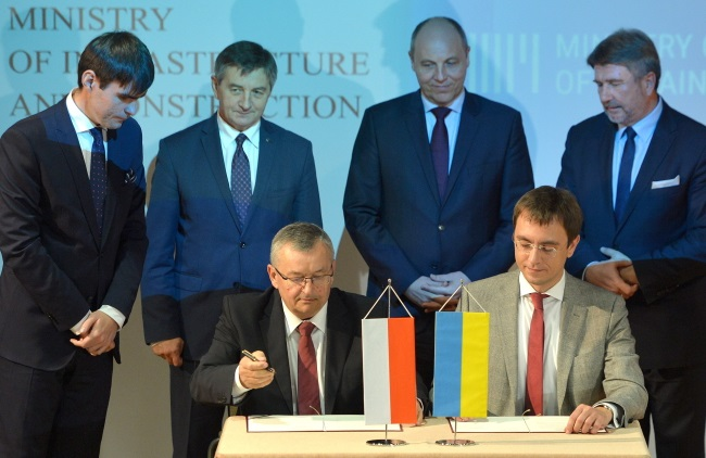 Poland, Ukraine agree to build trans-European route together
