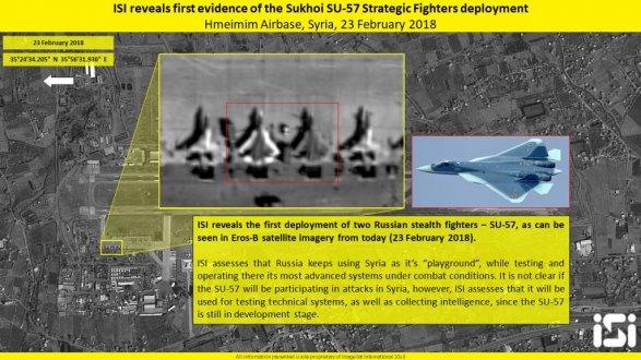 Израильский спутник сфотографировал российские Су-57 в Сирии фото