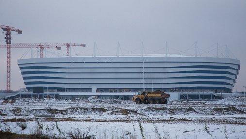 Стадион к ЧМ-2018 в России проваливается под землю