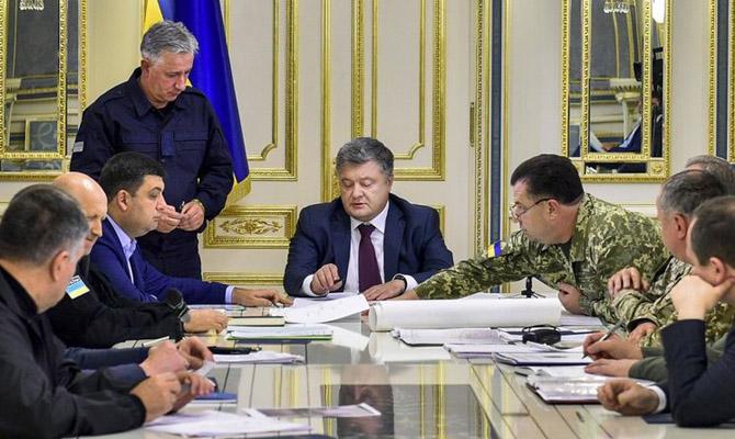 Порошенко провел заседание Военного кабинета СНБО из-за ситуации в ОРЛО