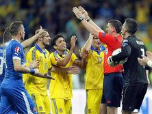 Украина и Словакия встречались в отборочном турнире чемпионата Европы 2016 года
