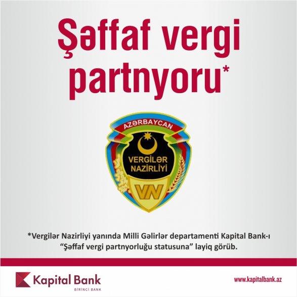 Kapital Bank получил статус «Транспарентного налогового партнера»