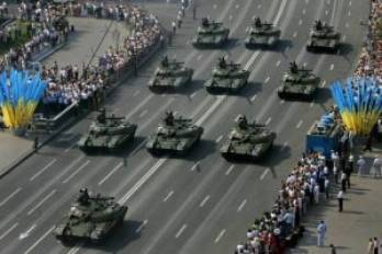 У Києві з нагоди Дня Незалежності України почався військовий парад