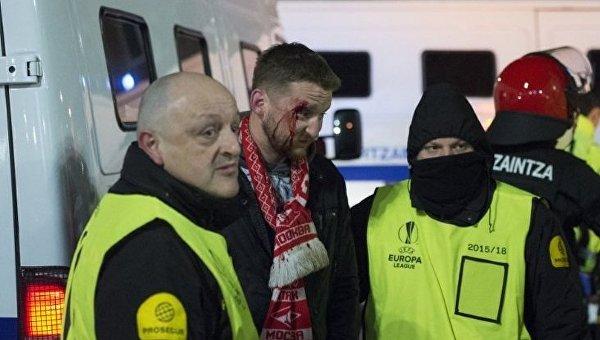Жестокая драка болельщиков в Бильбао: арестованы четверо россиян