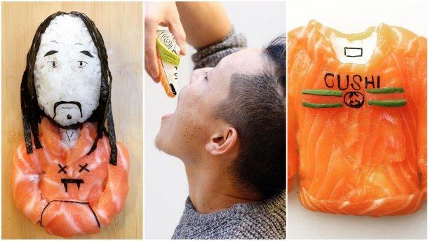 Суші-картини з Каньє Вестом, фламіно і Фрідою Кало: чим вражає художник в Instagram