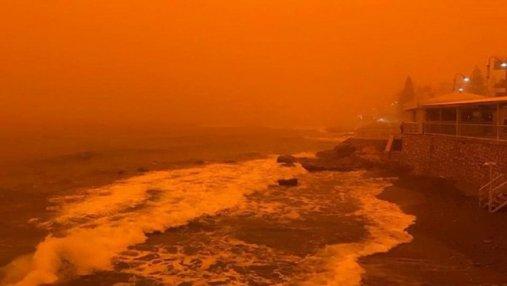 Как на Марсе: остров в Греции накрыла мощная пылевая буря