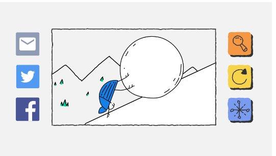 Новым героем олимпийского дудла от Google стал синий жук