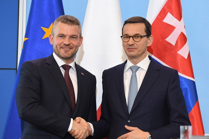 Polish, Slovak PMs see eye to eye on future EU budget