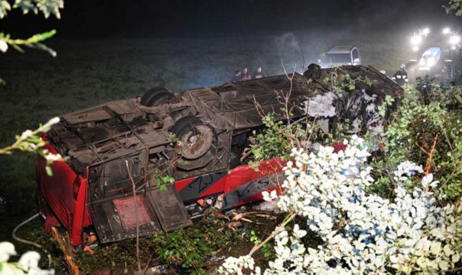 В Польше автобус с украинцами попал в аварию, есть жертвы