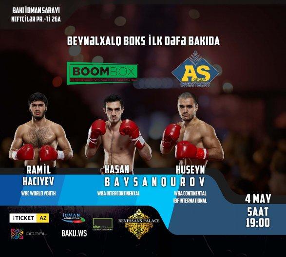 Международный турнир по боксу в Баку: бои за 4 титула