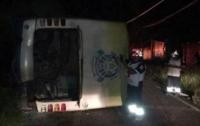 ДТП в Мексике: перевернулся автобус с футболистами, есть пострадавшие