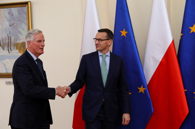 Polish PM, EU Brexit negotiator meet in Warsaw
