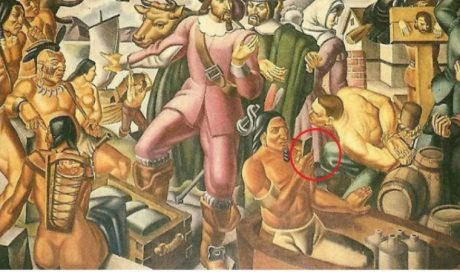 На древней картине обнаружили мужчину со смартфоном (ФОТО)