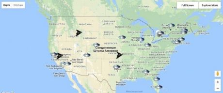 Создана карта «вторжения инопланетян» на Землю