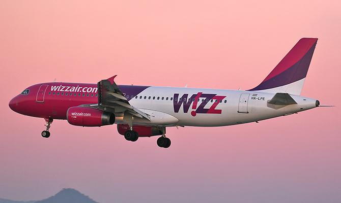 Wizz Air увеличил перевозки на украинских рейсах на 64 процентов