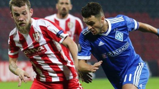 Динамо уступило Скендербеу на выезде в Лиге Европы