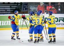 Сборная Украины забросила три шайбы