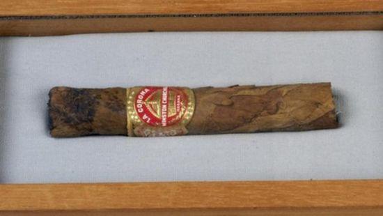 В США продали недокуренную сигару Черчилля