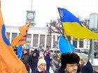Активиста с украинским флагом задержали на Марше памяти Немцова в Санкт-Петербурге. ФОТО