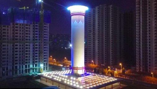В Китае заработал крупнейший в мире очиститель воздуха: видео