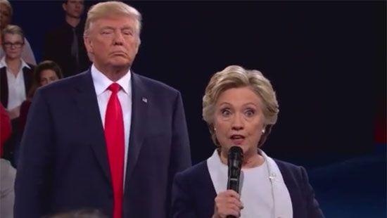 Клинтон обозвала Трампа «гадом, пугающим женщин» (ВИДЕО)