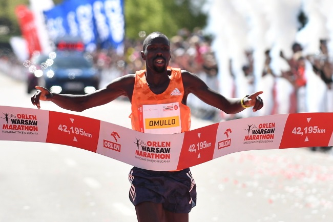 Kenyan runner wins Orlen Warsaw Marathon
