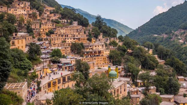 An entire village built on rooftops