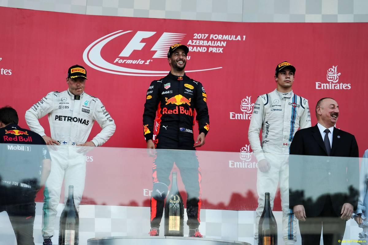 Формула-1: Риккиардо выиграл Гран-при Азербайджана