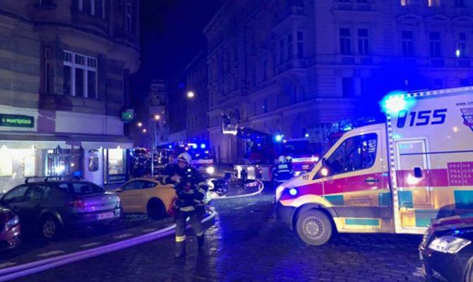 В центре Праги горел отель: два человека погибли, девять пострадали