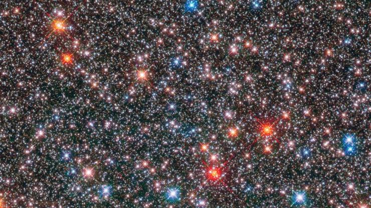 Hubble запечатлел космическую гирлянду