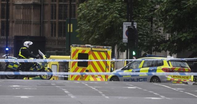 В Лондоне машина врезалась в ограждение у здания парламента