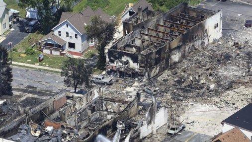 В США произошел мощный взрыв природного газа: есть погибший