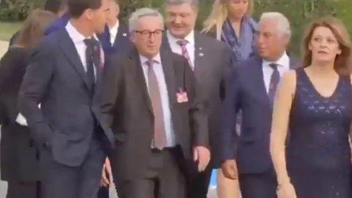 На ужине саммита НАТО президент Еврокомиссии еле стоял на ногах: видео