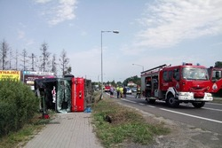 На півдні Польщі перекинувся пасажирський автобус