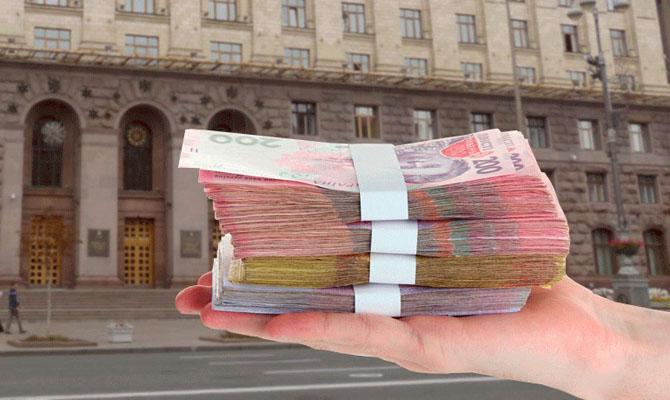 Доходы бюджета Киева составят 49,1 млрд, — КГГА