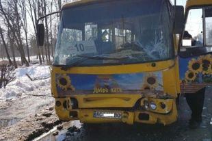ДТП в Луцке с участием двух маршруток: пострадали одиннадцать человек