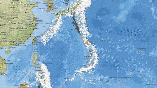 У берегов Японии зафиксировали мощное землетрясение