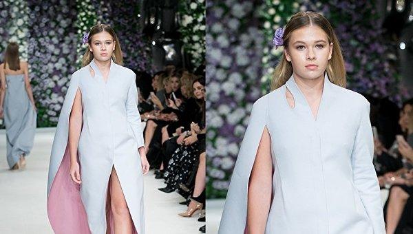 Дочь украинской певицы выступила на модном шоу в Москве