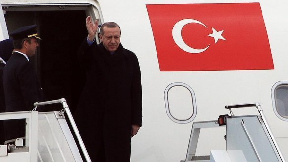 Эрдоган прилетел на переговоры с Путиным