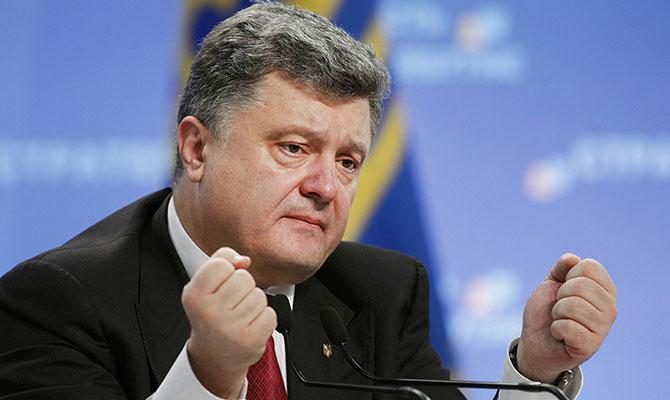 Порошенко просит «Азовский пакет санкций» против России