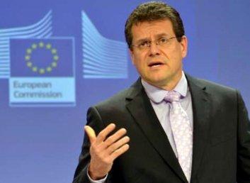 Шефчович пропонує залучити Німеччину до квадрилогу для забезпечення транзиту газу територією України