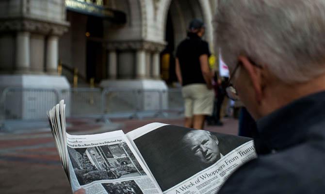 Более 300 газет присоединились к акции протеста против нападок Трампа на СМИ