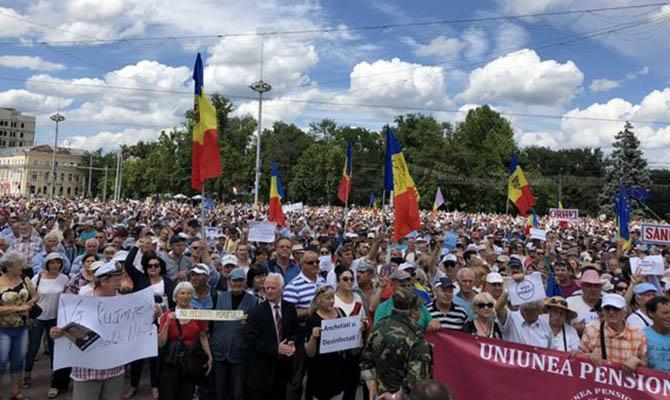 В Кишиневе протесты из-за отмененных результатов выборов мэра